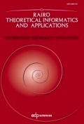 RAIRO - Theoretical Informatics and Applications (RAIRO: ITA) Cover page